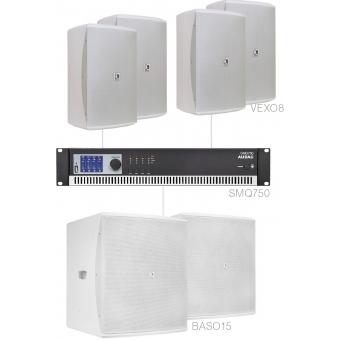 FORTE8.6/W - Large Foreground Set 4x Vexo8 + 2x Baso15 & Smq750 - White