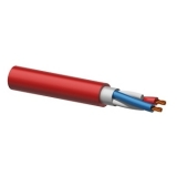 LS07HF - LSZH Speaker cable - 2 x 0,75mm2 - 7,8mm - Red - 100 METER