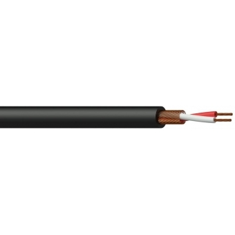 MC105B/1 - Microphone Cable - 2x 0.125mm²- Black - 100m