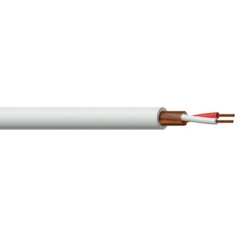 MC105W/1 - Microphone Cable - 2x 0.125mm²- White - 100m