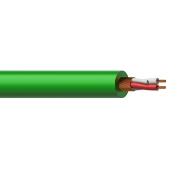 MC305G/1 - Microphone Cable - 2x 0.23mm²- Green - 100m