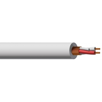 MC305W/1 - Microphone Cable - 2x 0.23mm²- White - 100m