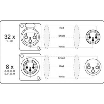 MSB32.8 - 32 x XLR female & 8 x XLR male to 8 x XLR female & 32 x XLR male - Multi stage block - 30 METER #3