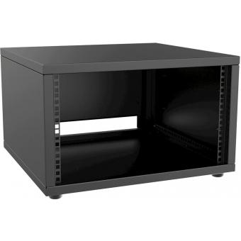 """PR206/B - 19"""" Rack Cabinet - 6 Unit - 500 Mm - Flat Down - Black"""
