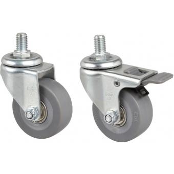 PR210WS - Wheel Set For Pr2xx Racks M8/Ø50x20 Mm - 2xwbrake&2xw/obrake
