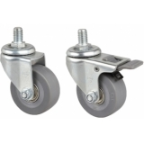 PR210WS - Wheel Set For Pr2xx Racks M8/Ø50x20 Mm - 2xwbrake&2xw/obrake