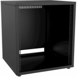 "PR212/B - 19"" Rack Cabinet - 12 Unit - 500 Mm - Flat Down - Black"