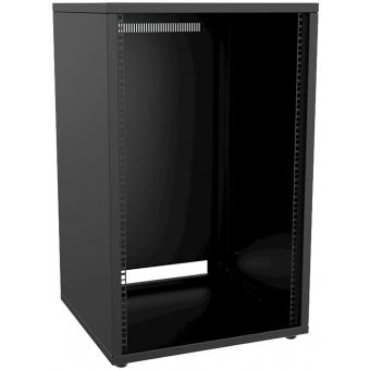 """PR218/B - 19"""" Rack Cabinet - 18 Unit - 500 Mm - Flat Down  - Black"""