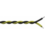 PR4304/1 - Twisted Assembling Cable Black- Yellow - 2x0.2mm² 100m