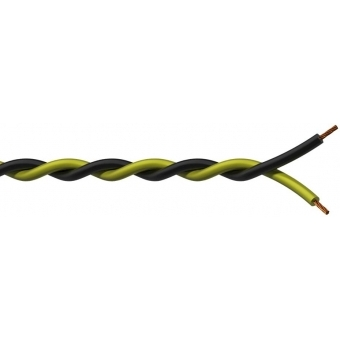 PR4404/1 - Twisted Assembling Cable Black- Yellow - 2x0.5mm² - 100m #1