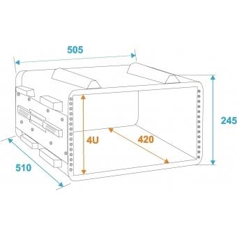 ROADINGER Plastic-Rack KR-19, 4U, DD, black #2