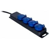 PSI204/1.5-G - IP44 powerstrip, 4-way, 3G2.5 - 4 german sockets, ip44, 1,5m