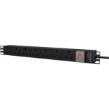 "PSR107UKS/B - 19"" power distribution unit - 7x UK socket + front switch - Black version"
