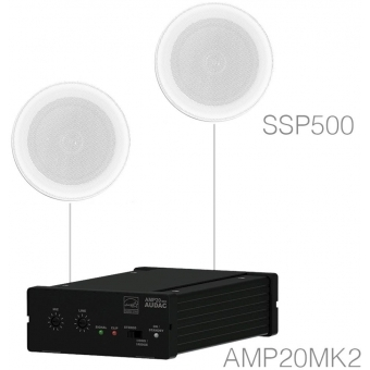 PURRA5.1/W - Humid Proof Background Set 2 X Ssp500 + Amp20 - White