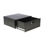"RD410L/B - 19"" Rack Drawer - 4 Unit Withkey Lock - Black - Steel"