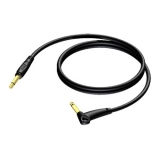 REF650 - 6.3 mm Guitar Jack male to 6.3 mm Jack Angled male - 5 METER - 20 PCK