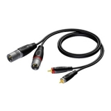 REF701 - 2 x XLR male to 2 x RCA/Cinch male - 1.5 METER - 20 PCK