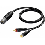 REF703/10 - Xlr Male - 2x Rca/cinch Male -10m