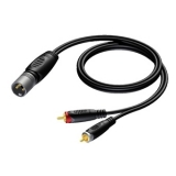 REF703 - XLR male to 2 x RCA/Cinch male - 1.5 METER - 20 PCK