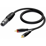 REF704/1.5-H - Xlr Female - 2x Rca/cinch Male- 1.5m - Hanger