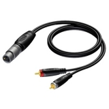 REF704 - XLR female to 2 x RCA/Cinch male - 1.5 METER - 20 PCK