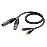 REF705 - 2 x XLR female to 2 x RCA/Cinch male - 1.5 METER - 20 PCK
