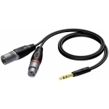 REF709/5 - Xlr Male & Female - Jack Malestereo - 5m