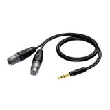 REF709 - 6.3 mm Jack male stereo to XLR male & XLR female - 3 METER - HANGER