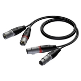 REF710 - 2 x XLR male to 2 x XLR female  - 1 METER - 20 PCK