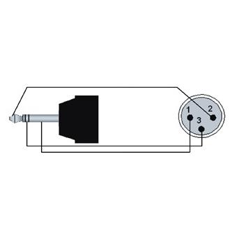 REF714/1.5-H - Mini Jack Male Stereo - Xlrmale - 1.5m - Hanger #2