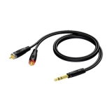 REF719 - 6.3 mm Jack male stereo to 2 x RCA/Cinch male - 1.5 METER - 20 PCK