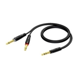 REF721 - 6.3 mm Jack male stereo to 2 x 6.3 mm Jack male - 1.5 METER - 20 PCK