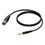 REF724 - XLR male to 6.3 mm Jack male stereo - 10 METER - 10 PCK