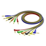 REF790/0.6-H - Cable Set Jack Straight - Jackangled - 6 Colors - 60cm - H