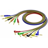 REF790/0.9-H - Cable Set Jack Straight - Jackangled - 6 Colors - 90cm - H