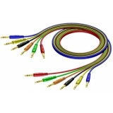 REF792 - 6.3 mm Jack male stereo to 6.3 mm Jack male stereo - Cable set in 6 colours - 0.9 METER - HANGER