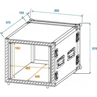 ROADINGER Amplifier Rack SP-2, 10U, shock-proof #2