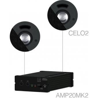 SENSO2.2/B - Small Background Set Amp20 & 2xcelo2 - Black