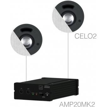 SENSO2.2/W - Small Background Set Amp20 & 2xcelo2 - White