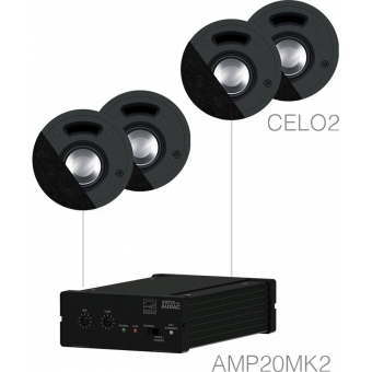SENSO2.4/B - Small Background Set Amp20 & 4xcelo2 - Black