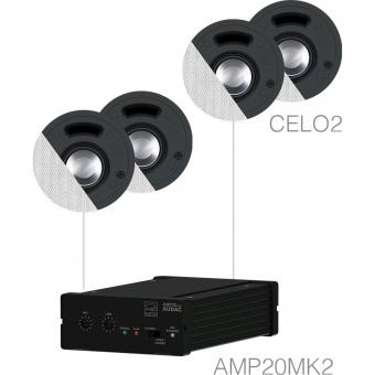 SENSO2.4/W - Small Background Set Amp20 & 4xcelo2 - White