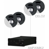SENSO2.4/W - Small Background Set Amp20 & 4xcelo2 - White