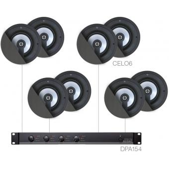 SENSO6.8 - LARGE BACKGROUND SET DPA154 & 8X CELO6 - Black version