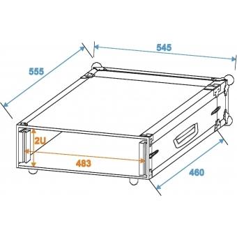 ROADINGER Amplifier Rack PR-1, 2U, 47cm deep #2