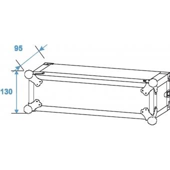 ROADINGER Amplifier Rack PR-1, 2U, 47cm deep #4