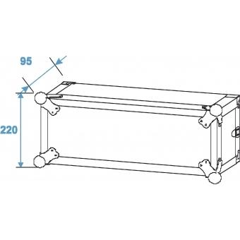 ROADINGER Amplifier Rack PR-1, 4U, 47cm deep #3