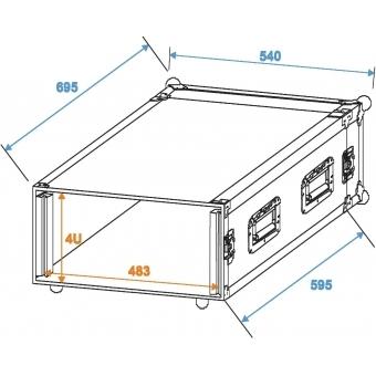 ROADINGER Amplifier Rack PR-2ST, 4U, 57cm deep #2