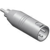 VC135-P - Adapter Xlr Male - Rca/cinchmale - 25 Pcs Pack