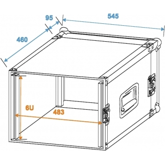 ROADINGER Amplifier Rack PR-2, 6U, 47cm deep #2