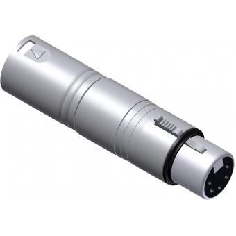 VC150 - Adapter Xlr Male 3 Pin - Xlrfemale 5 Pin Dmx